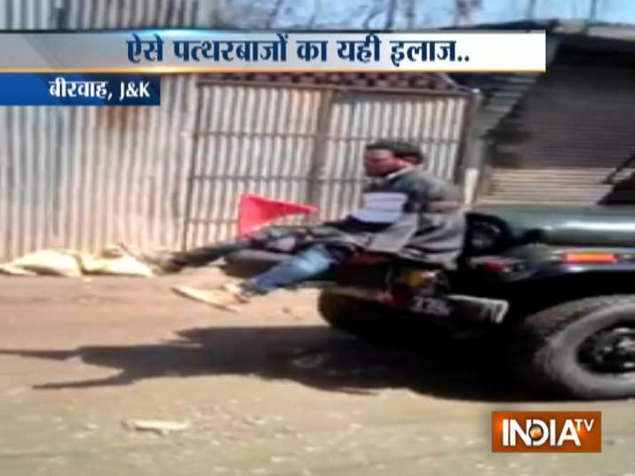 Kashmiri youth tied to Army jeep as 'human shield'