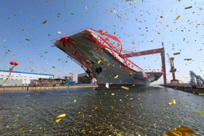 China launches its first home-built aircraft carrier