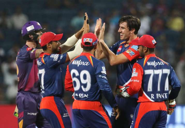 aredevils players celebrates the wicket of Ben Stokes