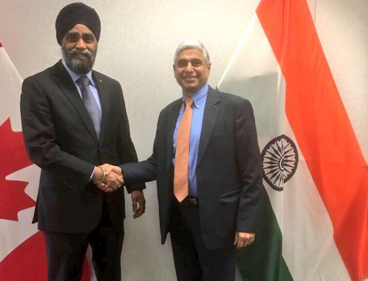 Canadian Defence Minister began his India visit today