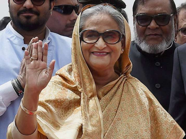 Bangladesh PM Sheikh Hasina arrives at IGI Airport in New