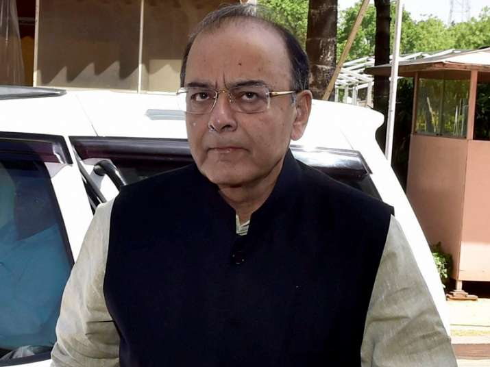 File pic of FM Arun Jaitley outside Parliament