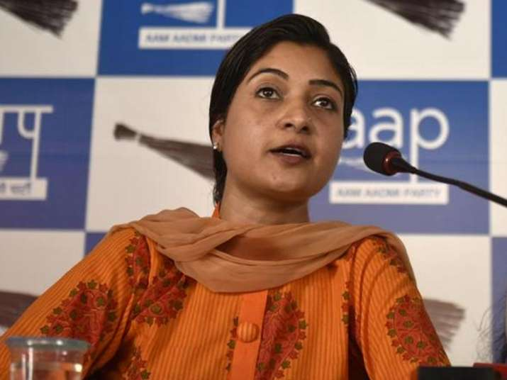 File pic of AAP MLA Alka Lamba