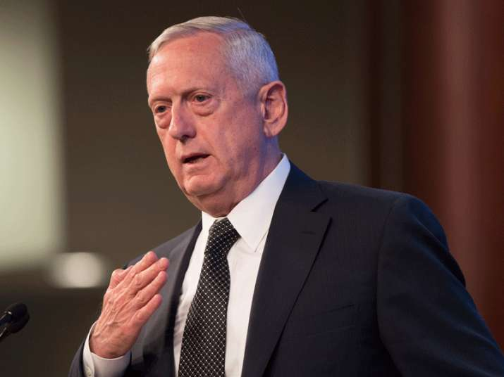 File pic of US Defense Secretary Jim Mattis