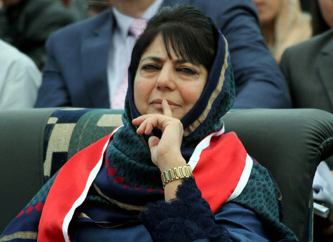 Mehbooba Mufti asks Pakistan to stop supporting militancy