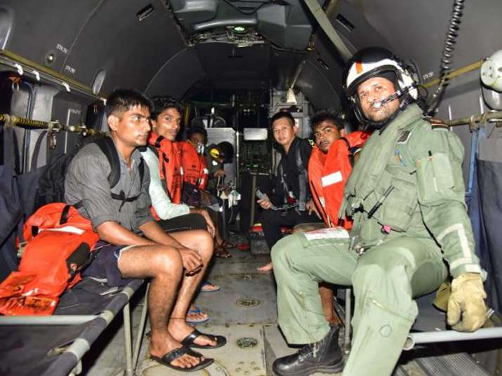 Navy rescues four from tugboat off Mumbai coast