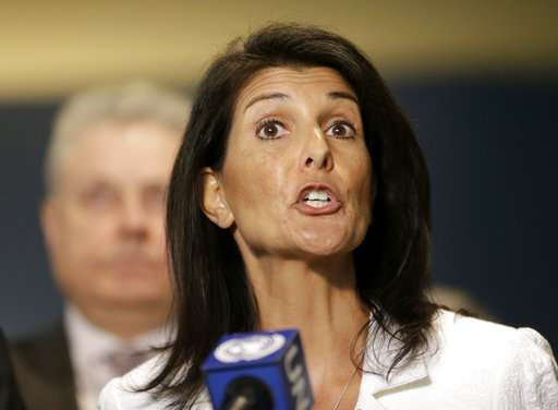 US envoy to UN Nikki Haley