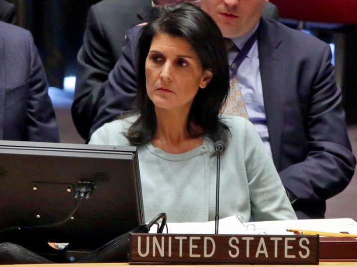 File pic of American Ambassador to UN Nikki Haley