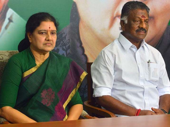 File pic of O Panneerselvam and VK Sasikala