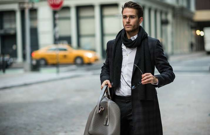 different ways men can drape scarves for fashion