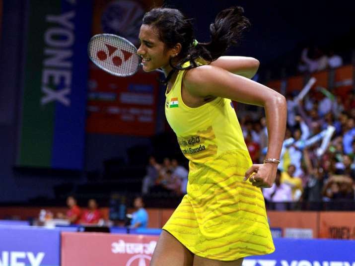 PV Sindhu celebrates after winning blockbuster QF against