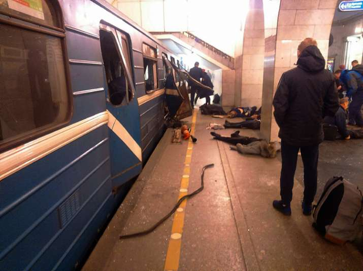 10 people have been killed in explosion at St. Petersburg