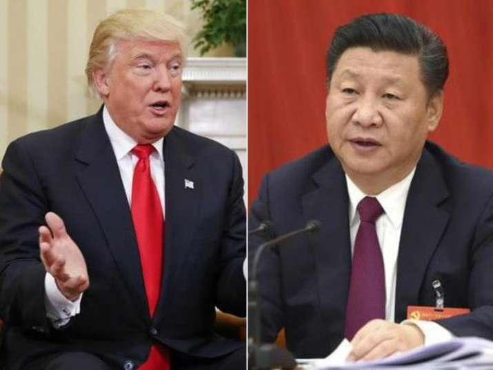 File pic - Donald Trump and Xi Jinping