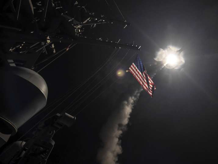 US blasted a Syrian air base with a barrage of cruise