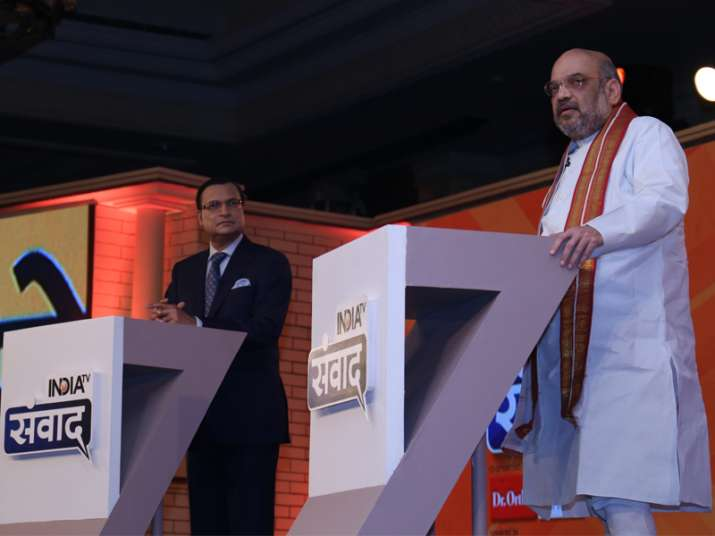Rajat Sharma grills Amit Shah on sets if India TV's