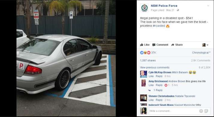 India Tv - NSW police no parking