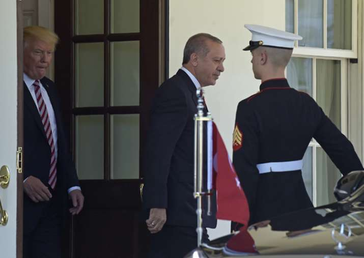 Turkish President Recep Tayyip Erdogan is visiting the US