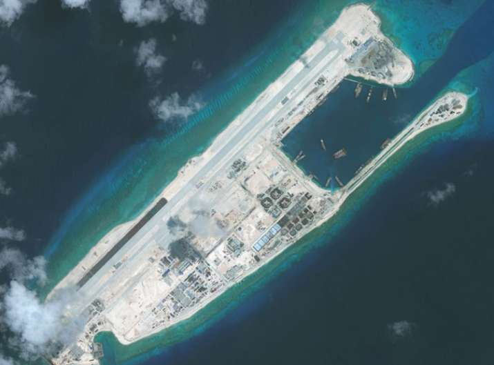 China installs rocket launchers on man-made island in South