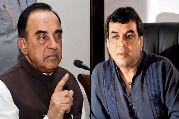 Swamy defends Paresh Rawal's tweet on Arundhati Roy