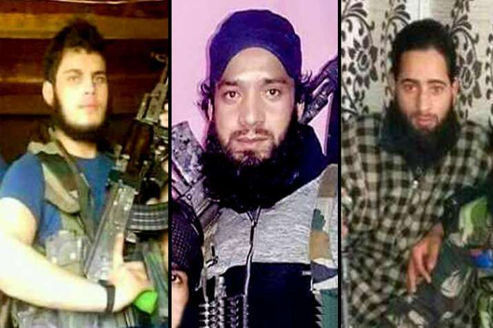 Posters of 3 terrorists involved in killing of young