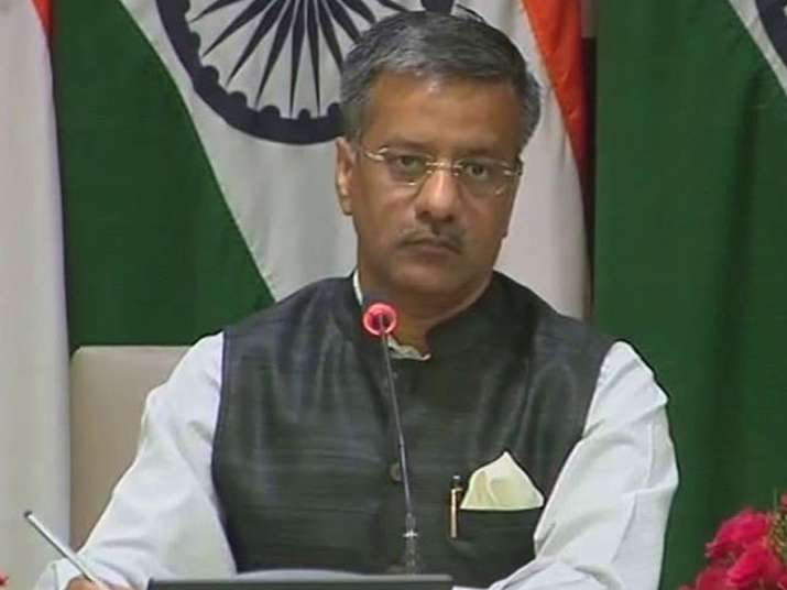 File pic of MEA spokesperson Gopal Baglay