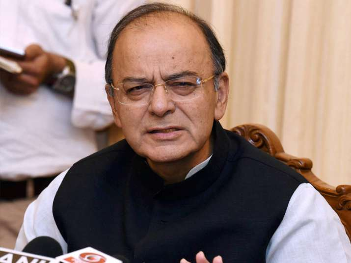Arun Jaitley addresses media in New Delhi