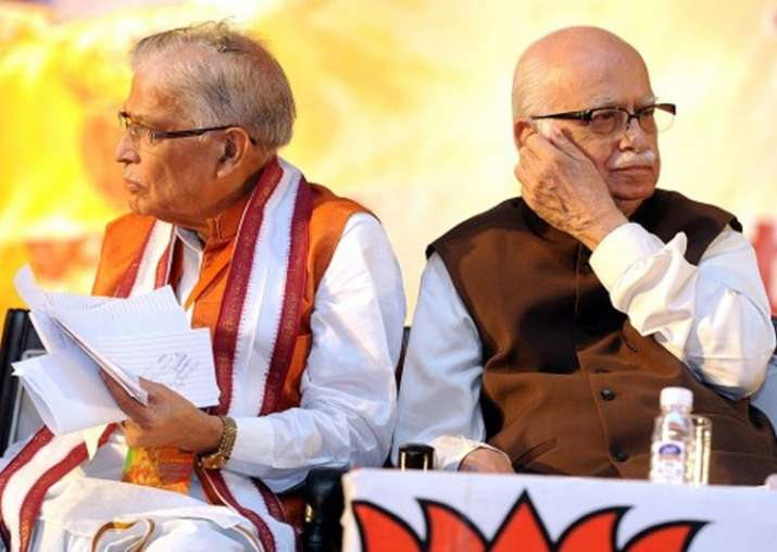File pic of MM Joshi and Lk Advani at an event