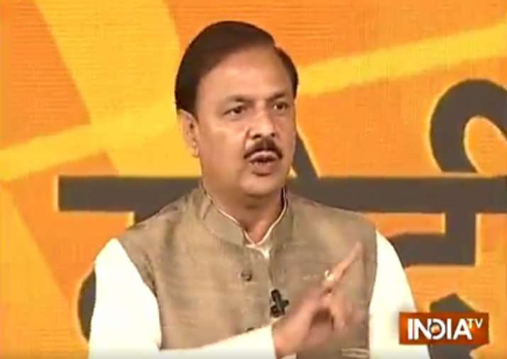 Mahesh Sharma in India TV conclave