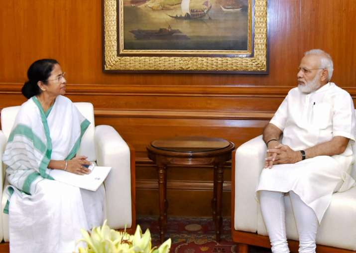 PM Modi with WB CM Mamata Banerjee in New Delhi on Thursday