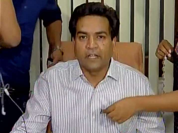 AAP leader Kapil Mishra speaks to media in Delhi on Sunday