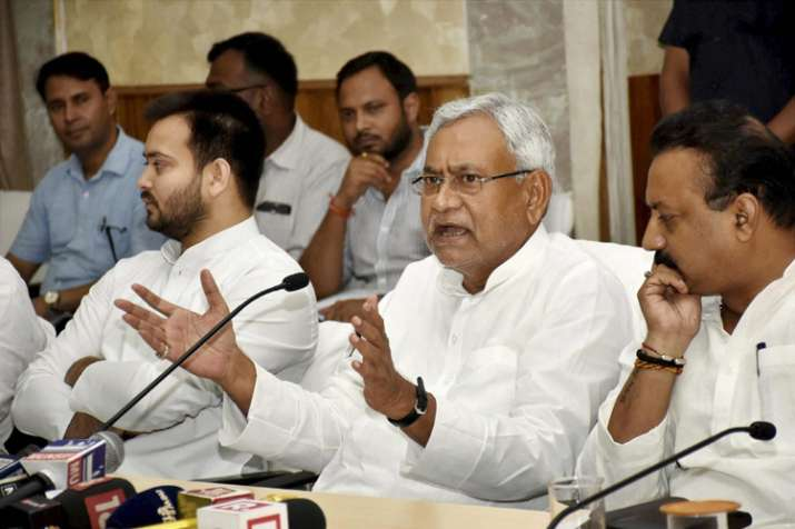 Nitish rules Bihar in alliance with Lalu's RJD and Congress