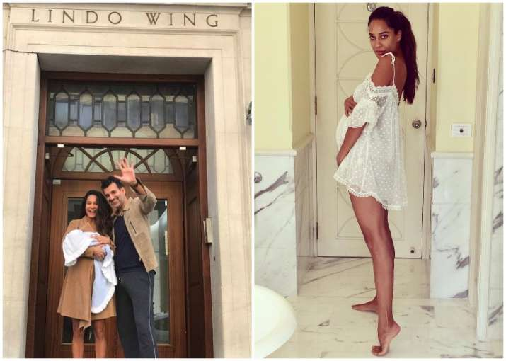 lisa haydon gives birth to baby boy