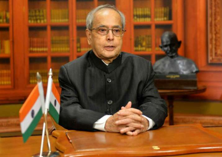 File pic of President Pranab Mukherjee