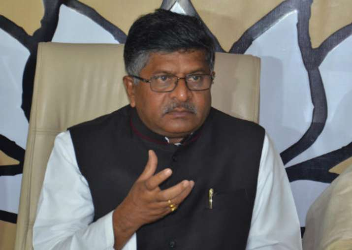 File pic of BJP leader Ravi Shankar Prasad