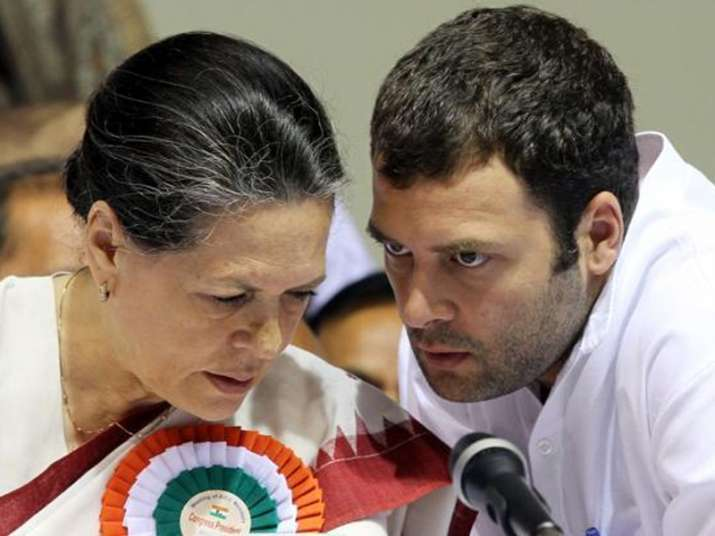 File pic of Sonia Gandhi and Rahul Gandhi