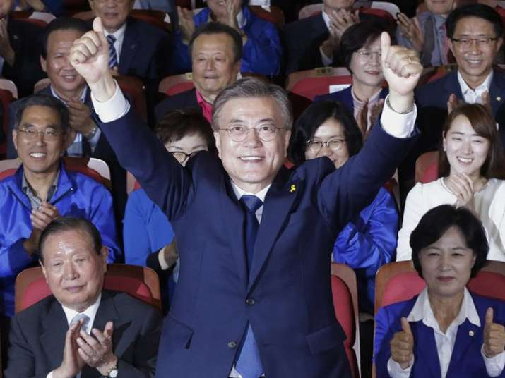File pic of Moon Jae-in of the Democratic Party