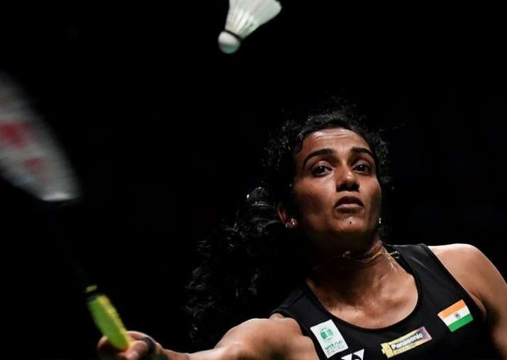 File pic - PV Sindhu plays a shot during Sudirman Cup