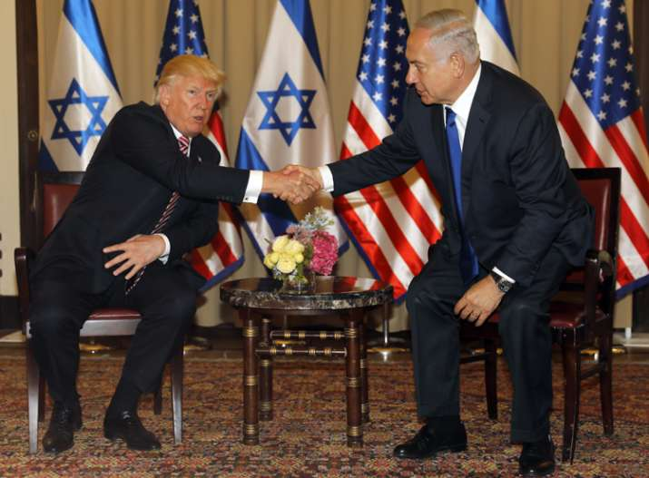 Iran must stop supporting 'terrorists', Trump says in Israel