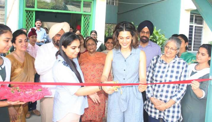 India Tv - Taapsee Pannu revisits her school in Delhi, see pics