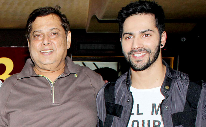 Varun Dhawan gets hit with a bottle by dad David Dhawan for