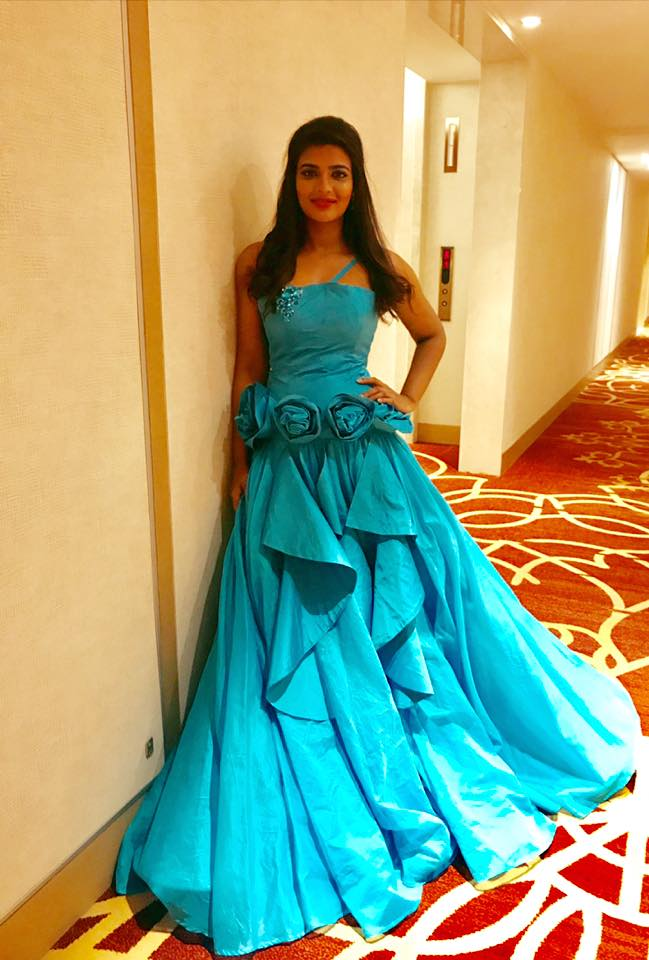 India Tv - Aishwarya Rajesh in a blue gown