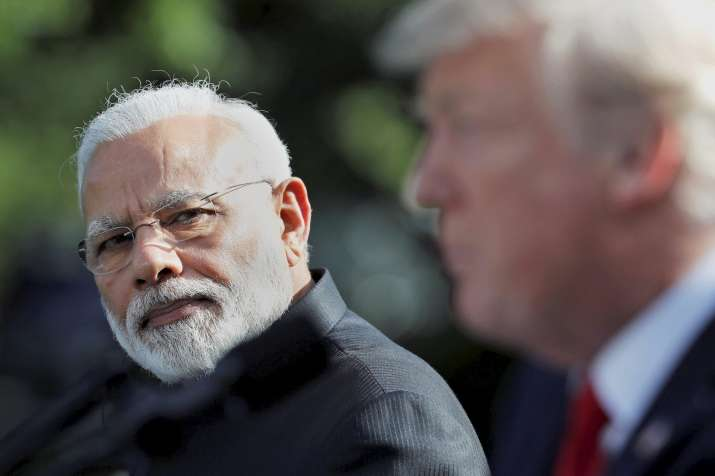 PM Narendra Modi and US President Donald Trump at a joint