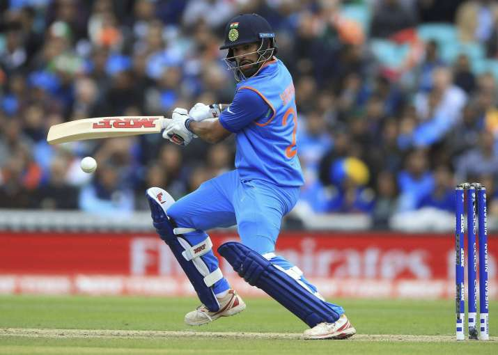 Shikhar Dhawan in action.