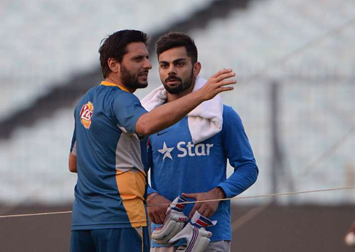 A file image of Shahid Afridi and Virat Kohli.