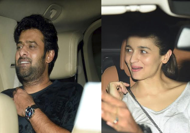 India Tv - Alia Bhatt and Prabhas spotted at Karan Johar's party