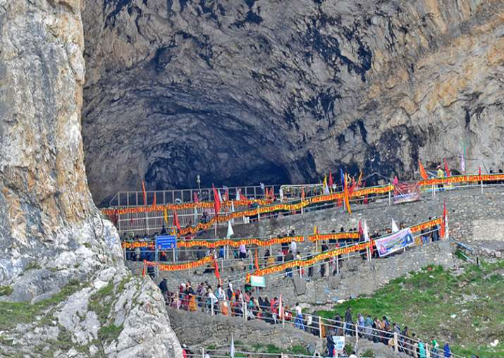 File pic - Rajnath may be among first pilgrims at Amarnath