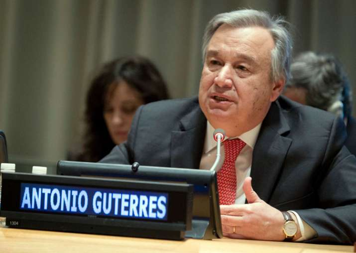File pic of UN Secretary General Antonio Guterres