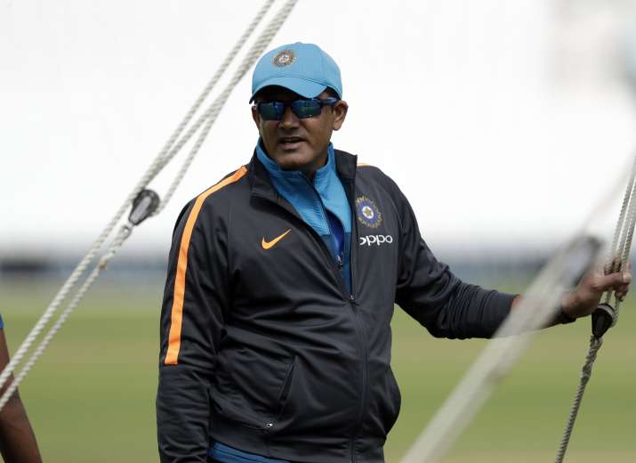 Former India coach Anil Kumble during a nets session