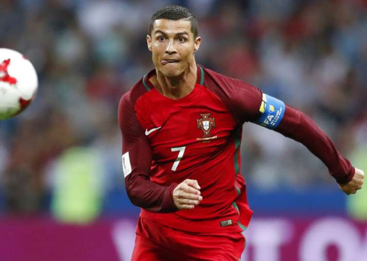 Cristiano Ronaldo in action in Confederations Cup.