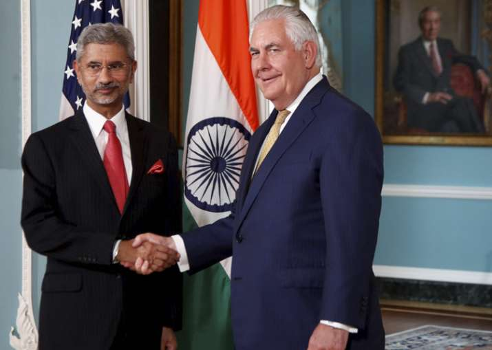 Tillerson met Indian foreign secretary S Jaishankar in